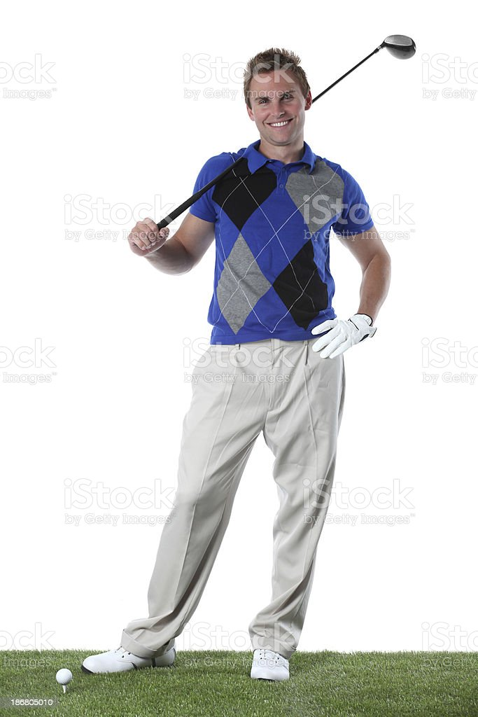 Portrait of a golfer royalty-free stock photo