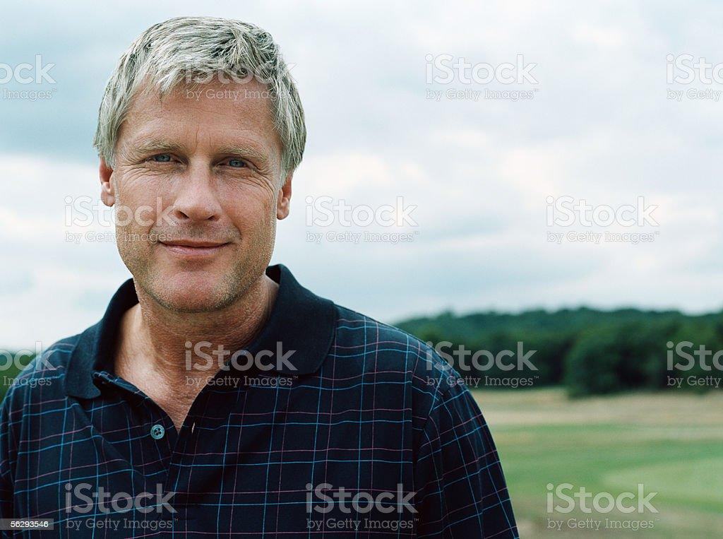 Portrait of a golfer stock photo