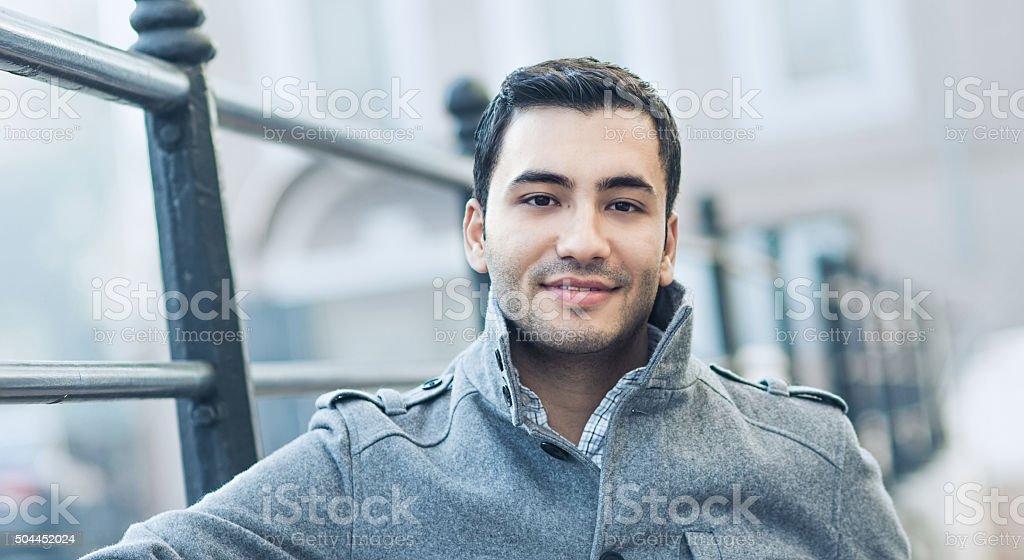 Portrait of a gorgeous man stock photo