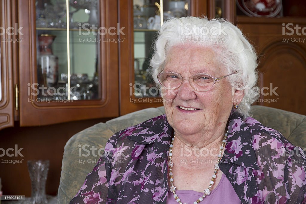 Portrait of a Grandma royalty-free stock photo