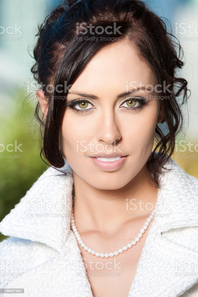 Portrait of a Green-Eyed Woman royalty-free stock photo