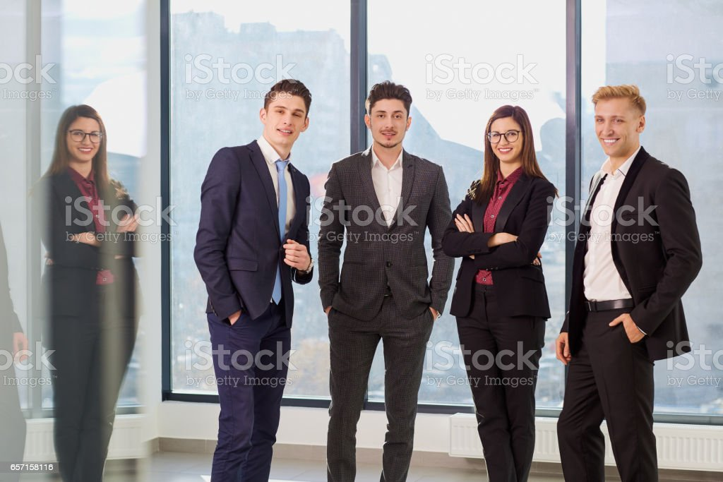 Portrait of a group of businesspeople. Business team in an offic stock photo
