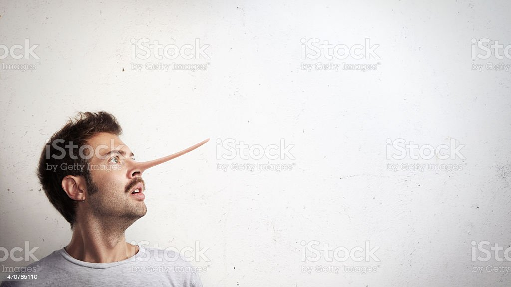 Portrait of a guy with long nose stock photo