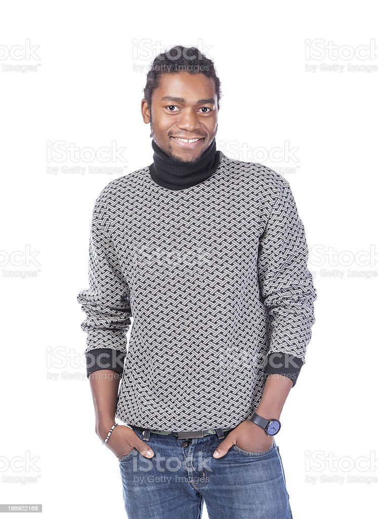 Portrait of a handsome African-American stock photo