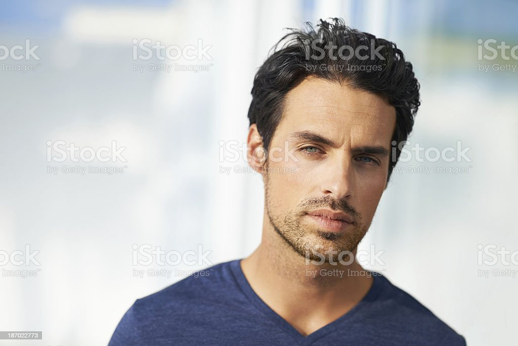 Portrait of a handsome hunk royalty-free stock photo