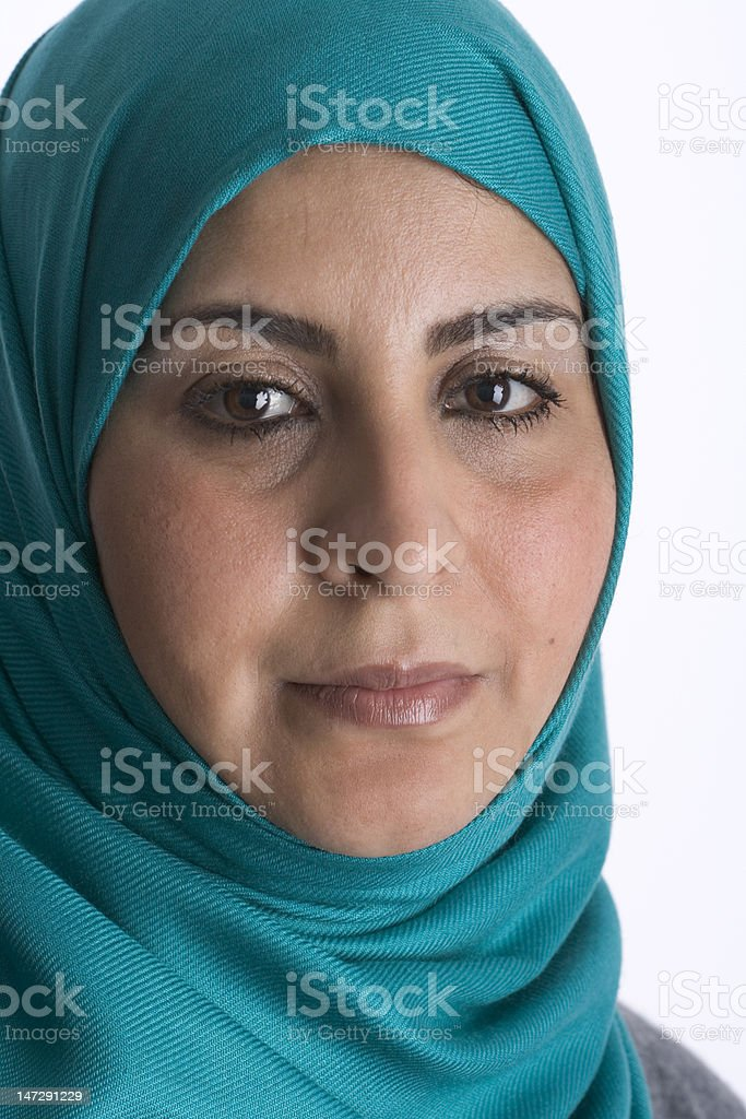 Portrait of a handsome moslim woman stock photo