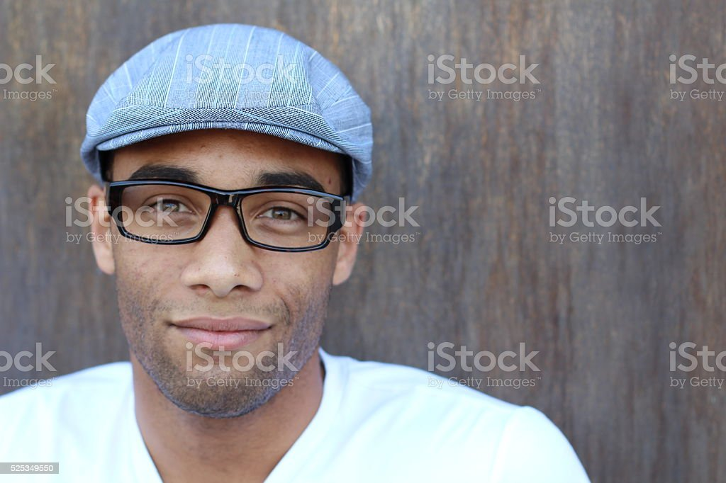 portrait of a handsome young african man stock photo