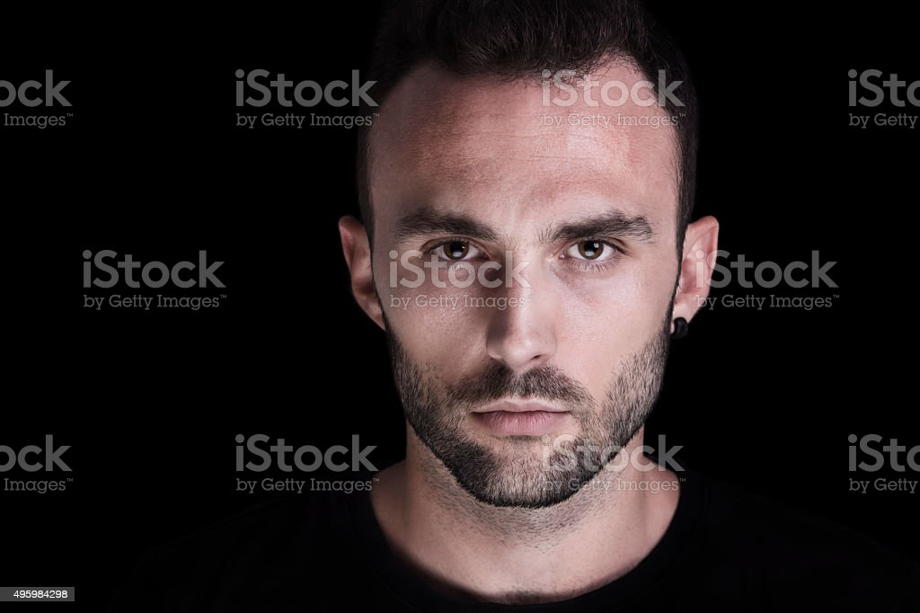 Portrait of a handsome young man stock photo