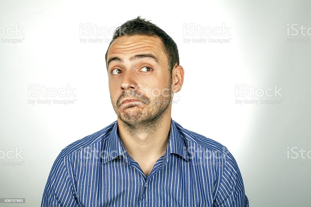 Portrait of a handsome young man. stock photo