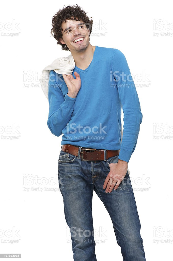 Portrait of a Handsome Young Man Smiling royalty-free stock photo