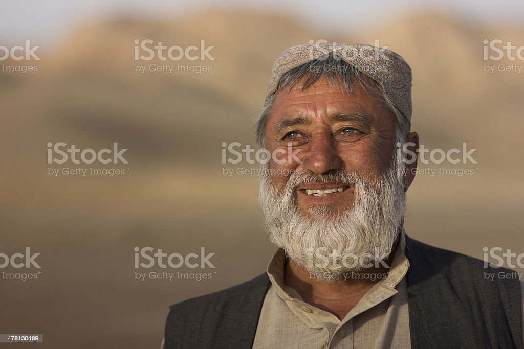 Portrait of a happy Afghan stock photo