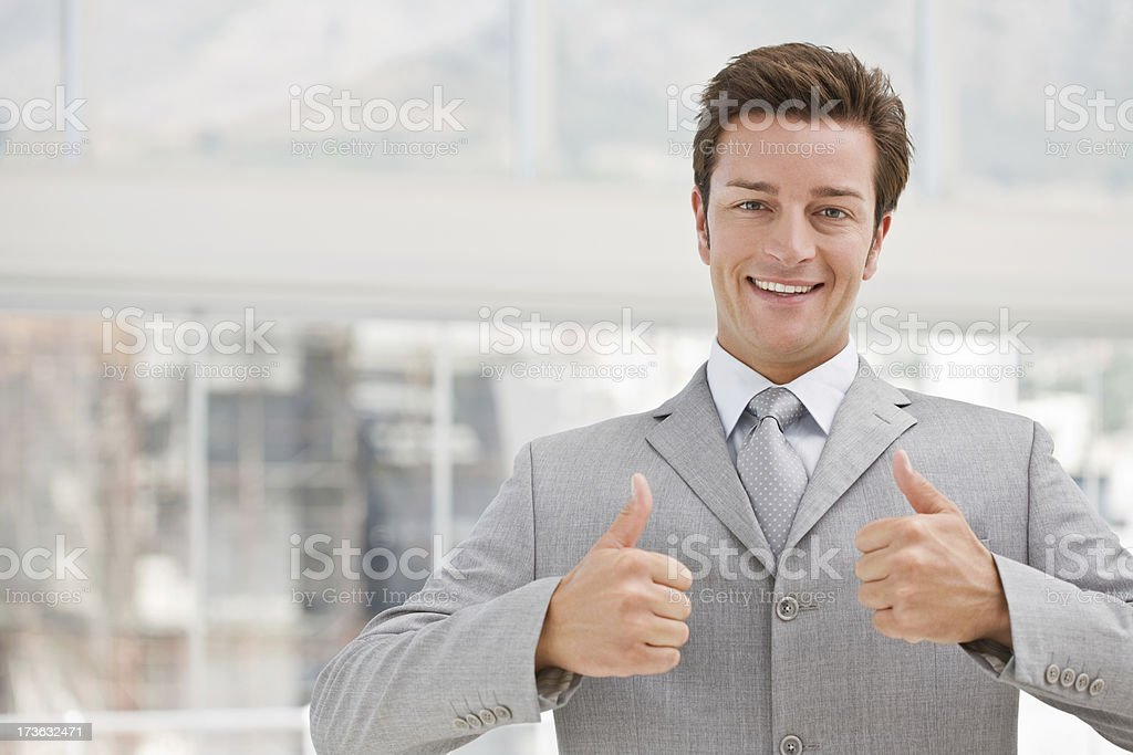 Portrait of a happy businessman royalty-free stock photo