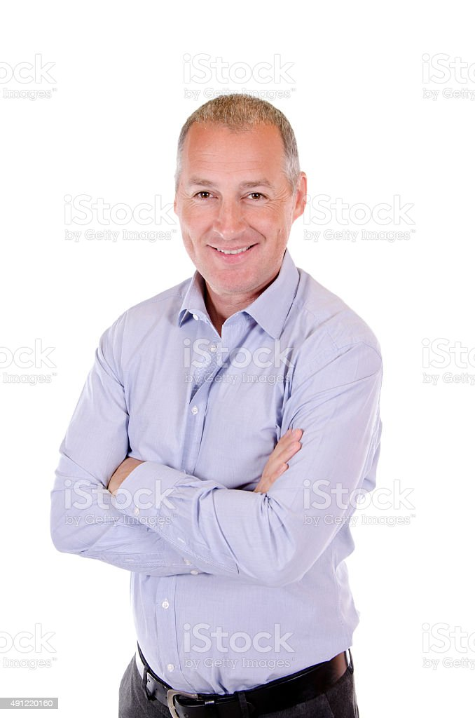 Portrait of a happy businessman stock photo