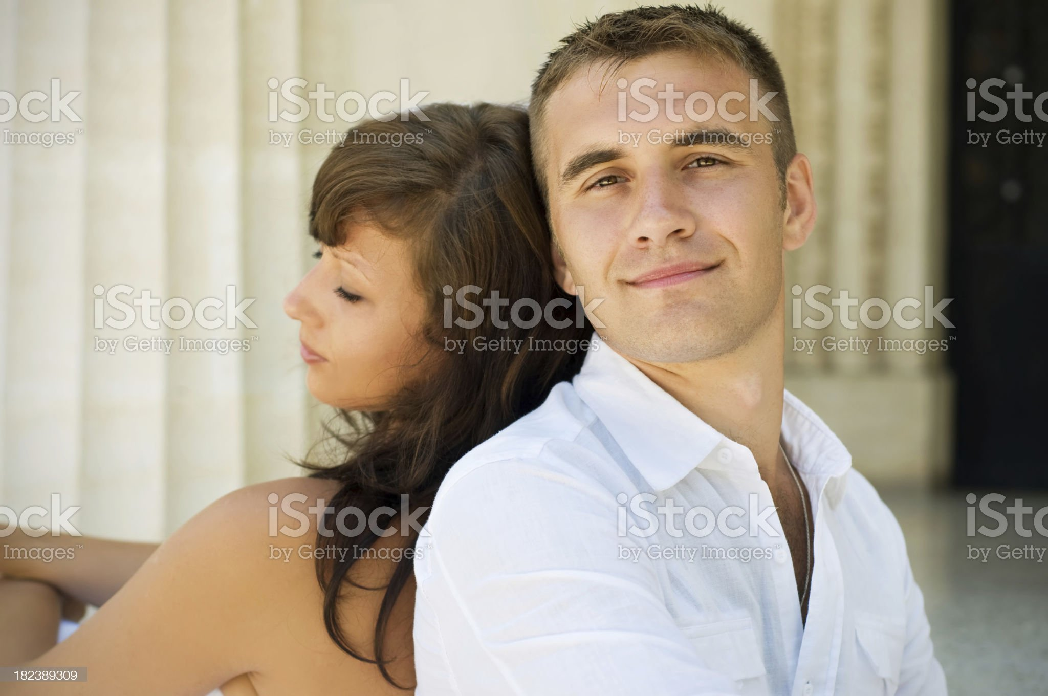 Portrait of a happy couple royalty-free stock photo