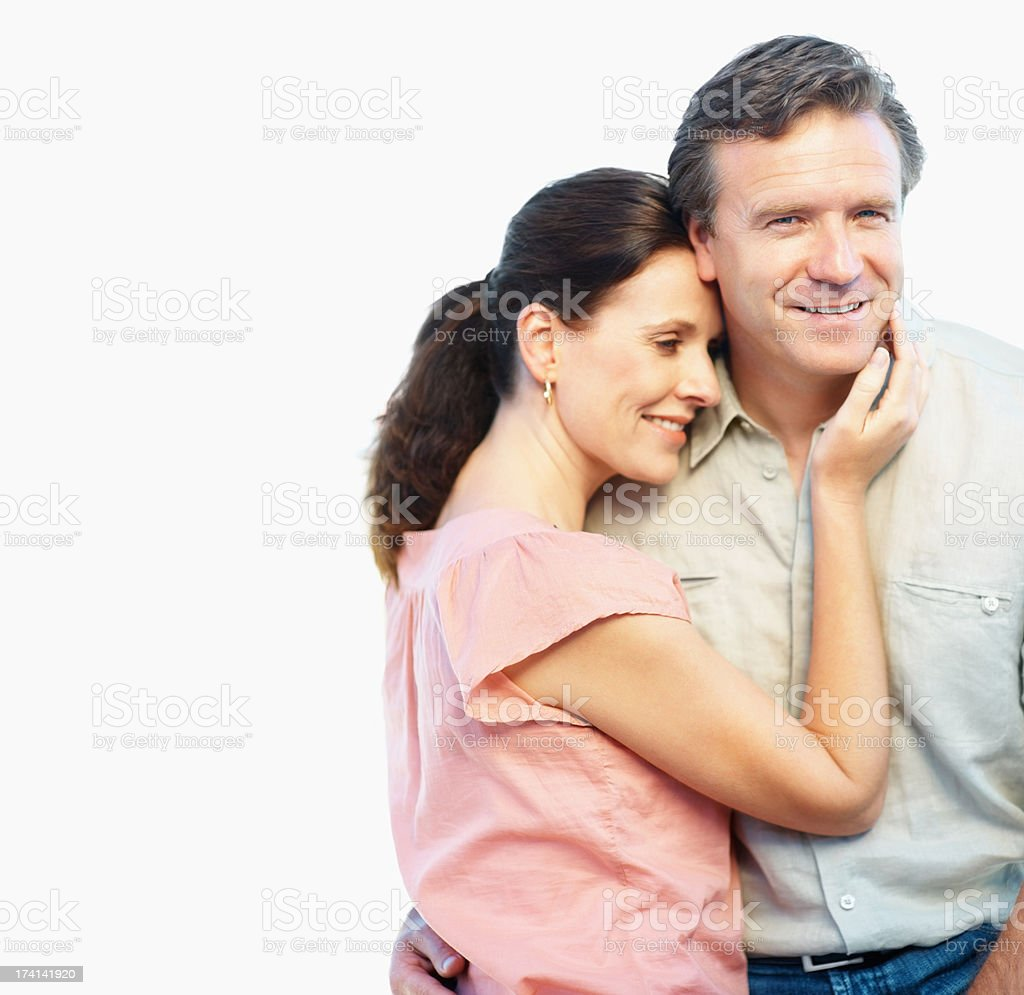 Portrait of a happy couple together stock photo