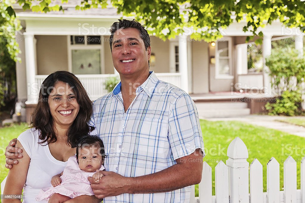Portrait of a Happy Family at Home royalty-free stock photo