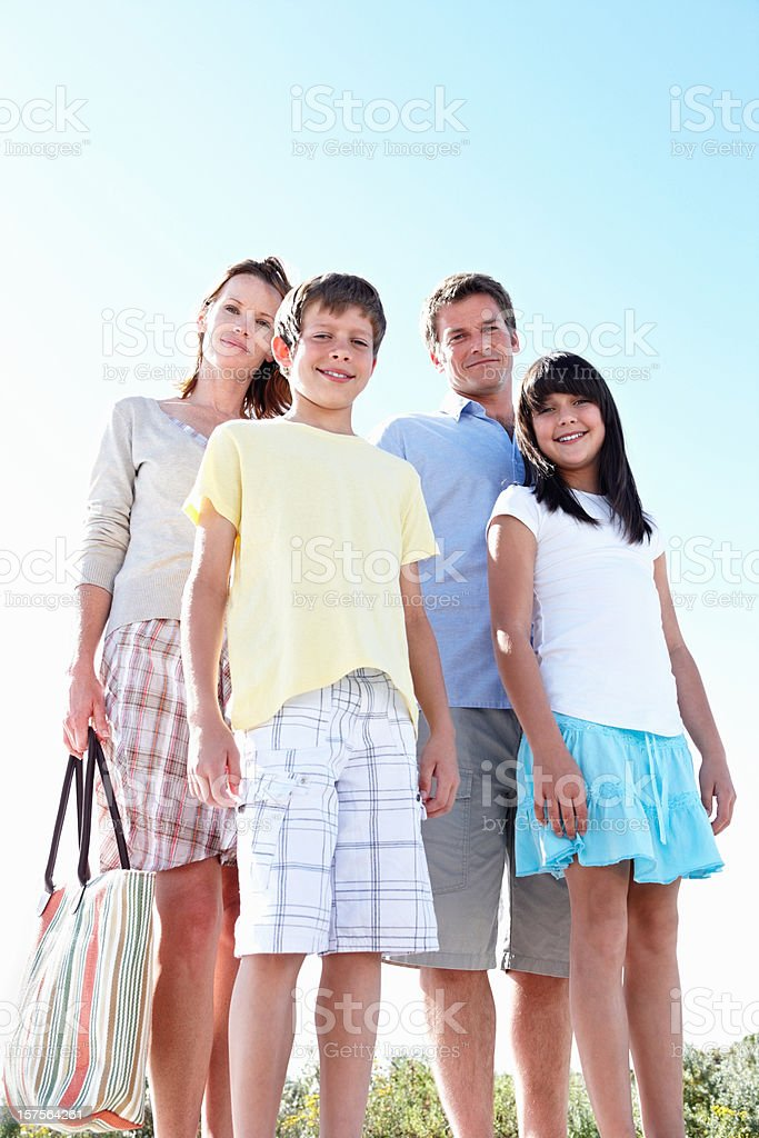 Portrait of a happy family on vacation royalty-free stock photo