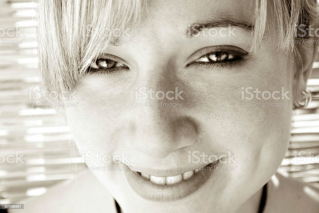 Portrait of a happy girl 4 royalty-free stock photo
