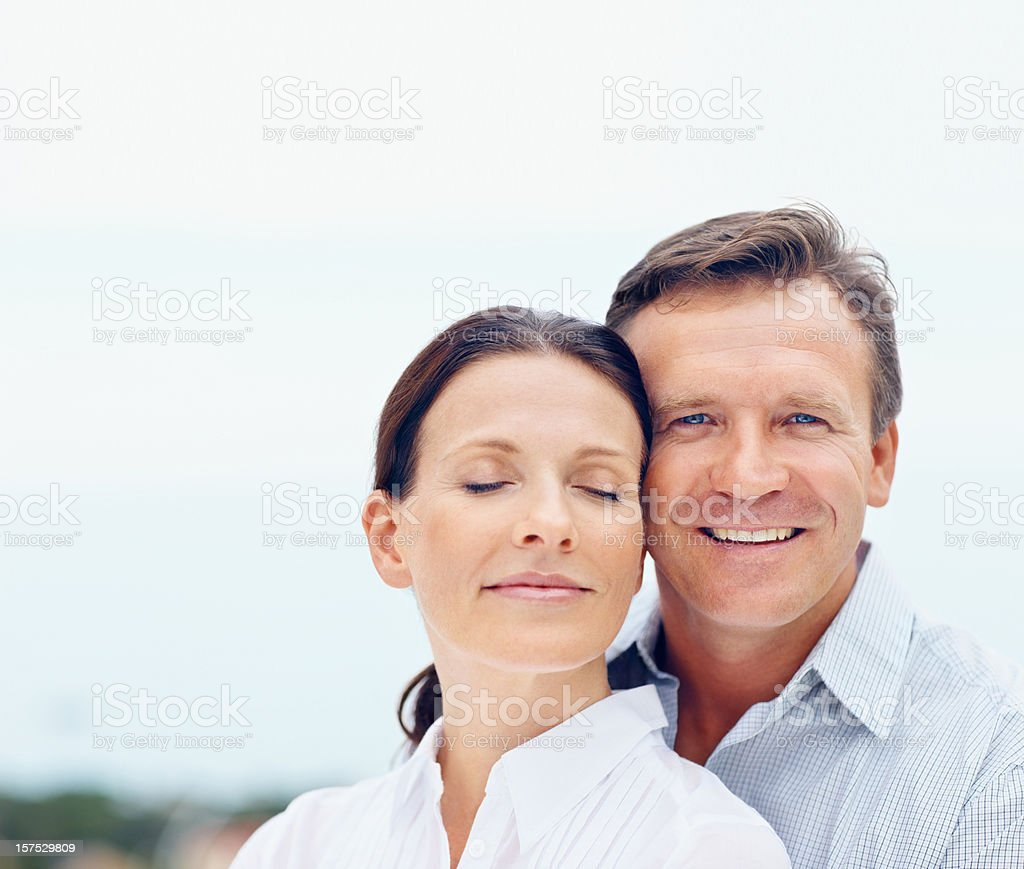 Portrait of a happy romantic couple royalty-free stock photo