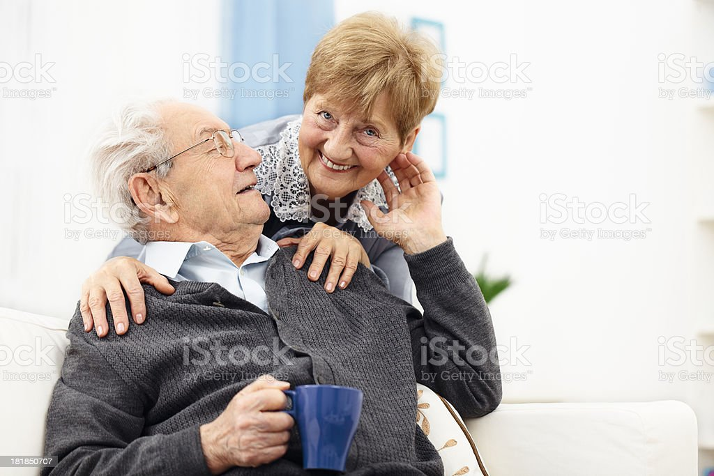 Portrait of a happy senior couple royalty-free stock photo