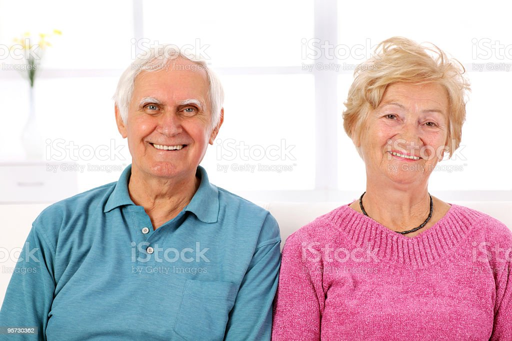 Portrait of a happy senior couple together. royalty-free stock photo