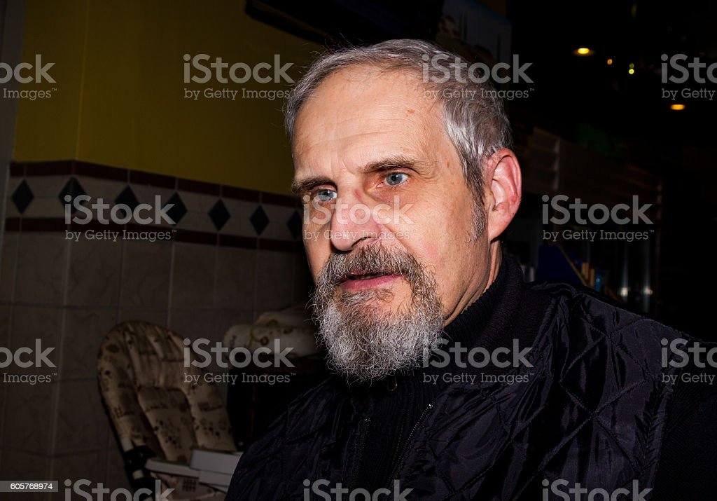 Portrait of a happy senior man. royalty-free stock photo