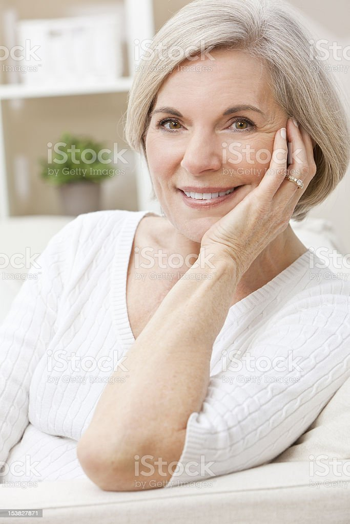 Portrait of A Happy Smiling Attractive Senior Woman royalty-free stock photo