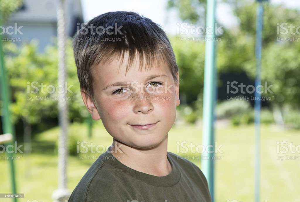 portrait of a happy teenager royalty-free stock photo