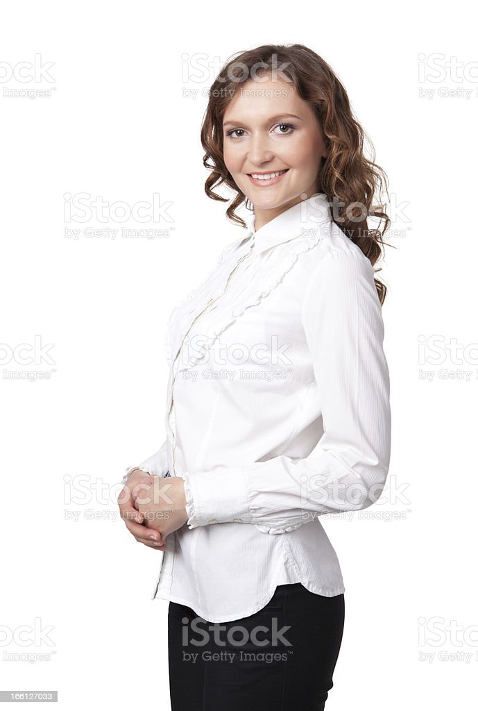 Portrait of a happy young business woman royalty-free stock photo