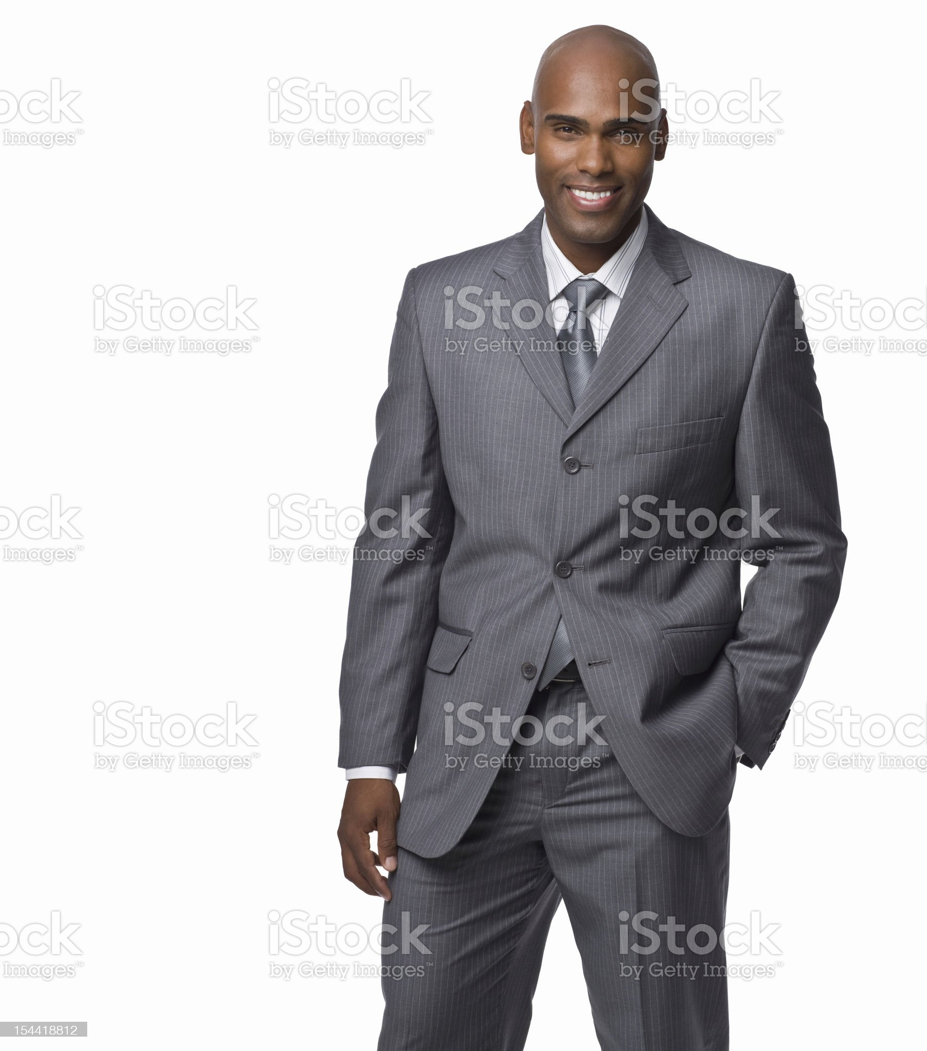 Portrait of a happy young businessman royalty-free stock photo