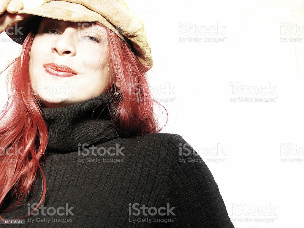 Portrait of a happy young woman royalty-free stock photo