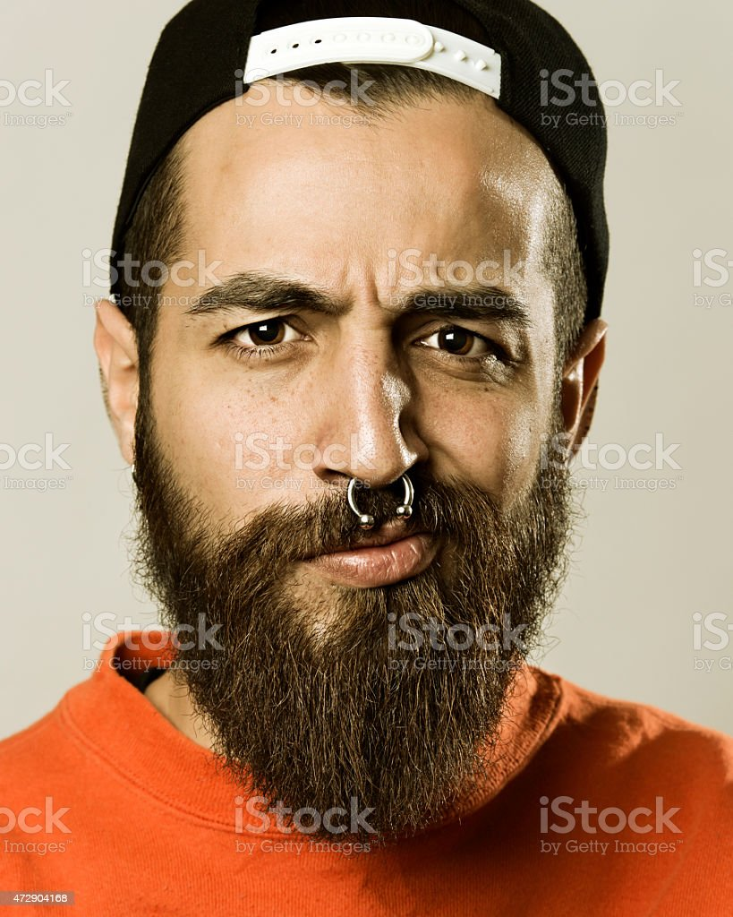 Portrait of a hipster stock photo