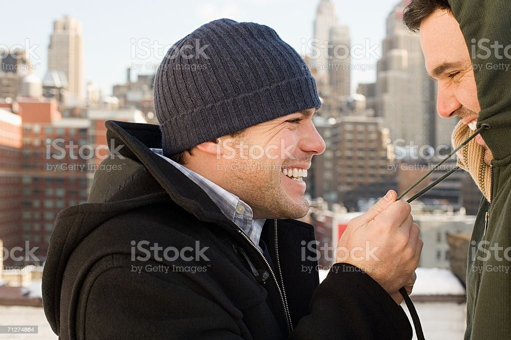Portrait of a homosexual couple royalty-free stock photo