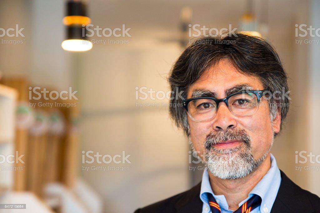 Portrait of a Japanese man stock photo