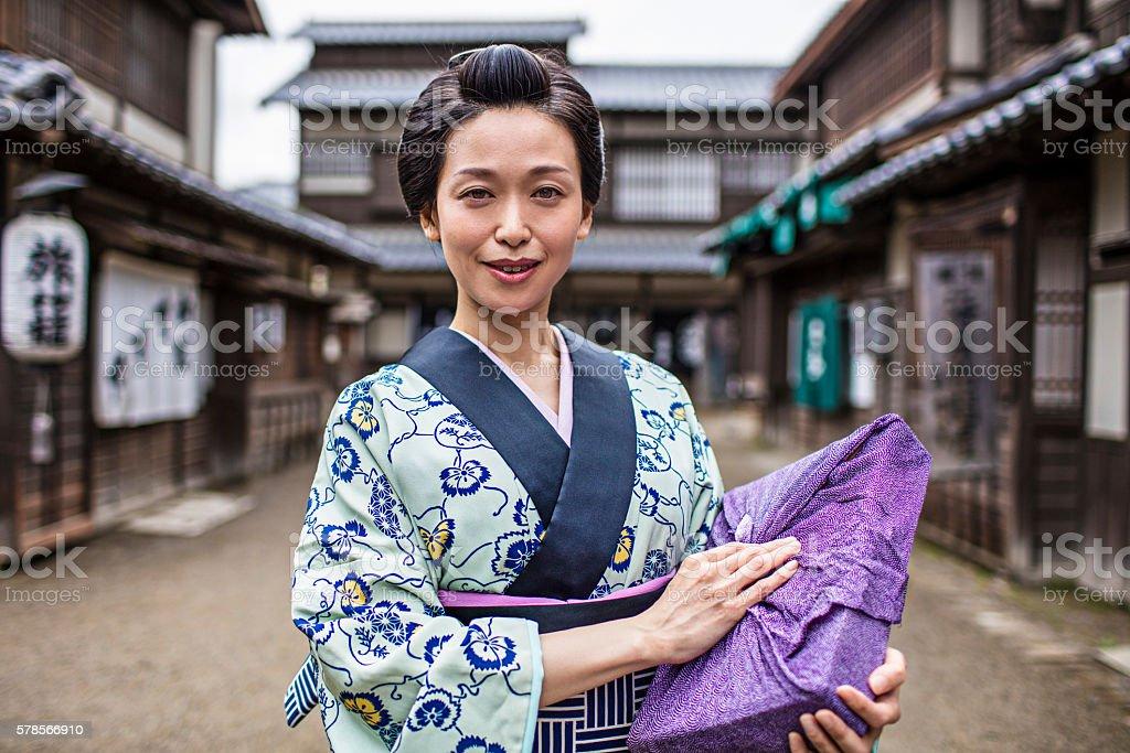 Portrait of a Japanese Women in Edo Period Town.