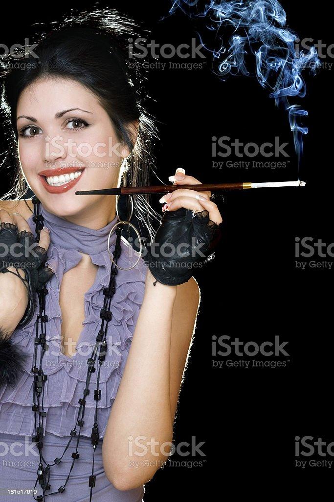 Portrait of a joyful brunette royalty-free stock photo