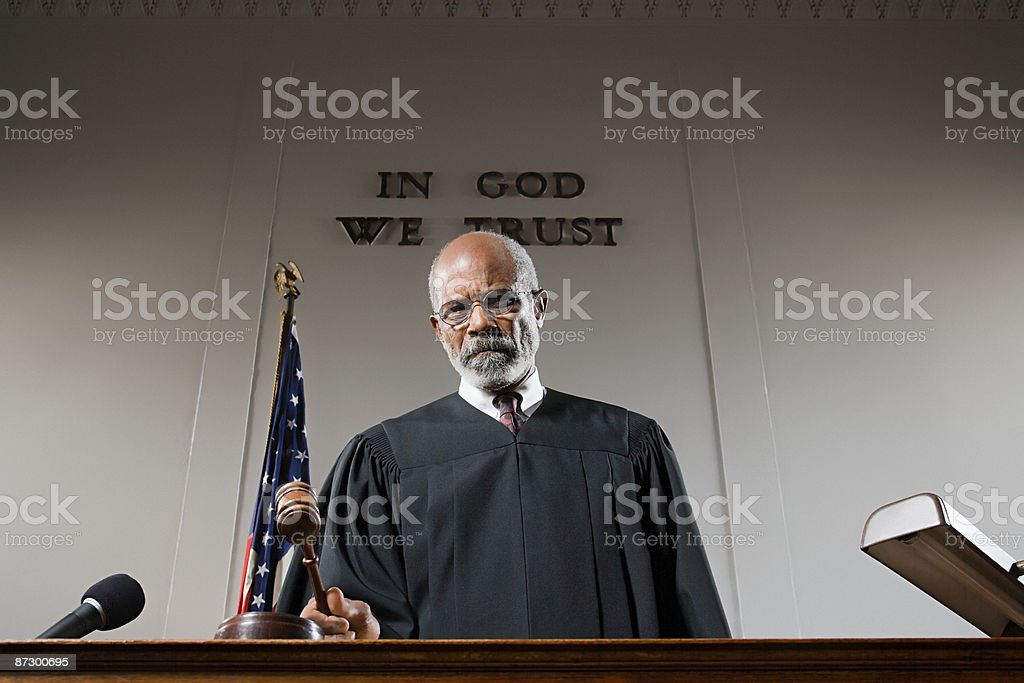 Portrait of a judge royalty-free stock photo