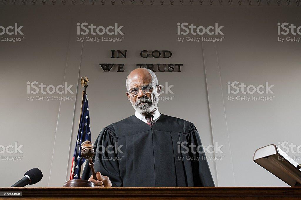 Portrait of a judge stock photo