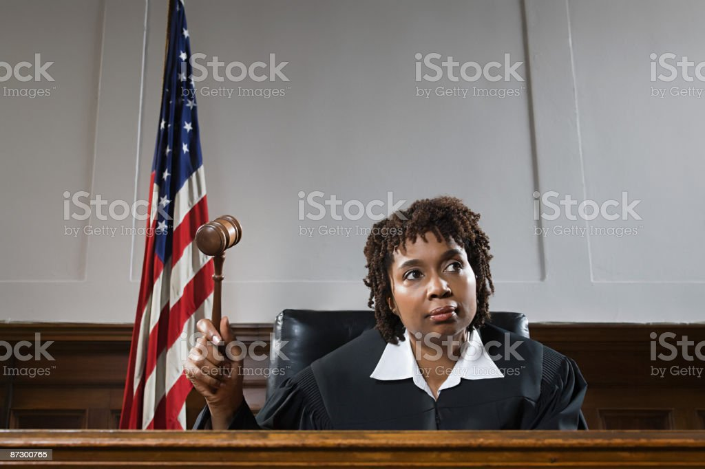Portrait of a judge stock photo