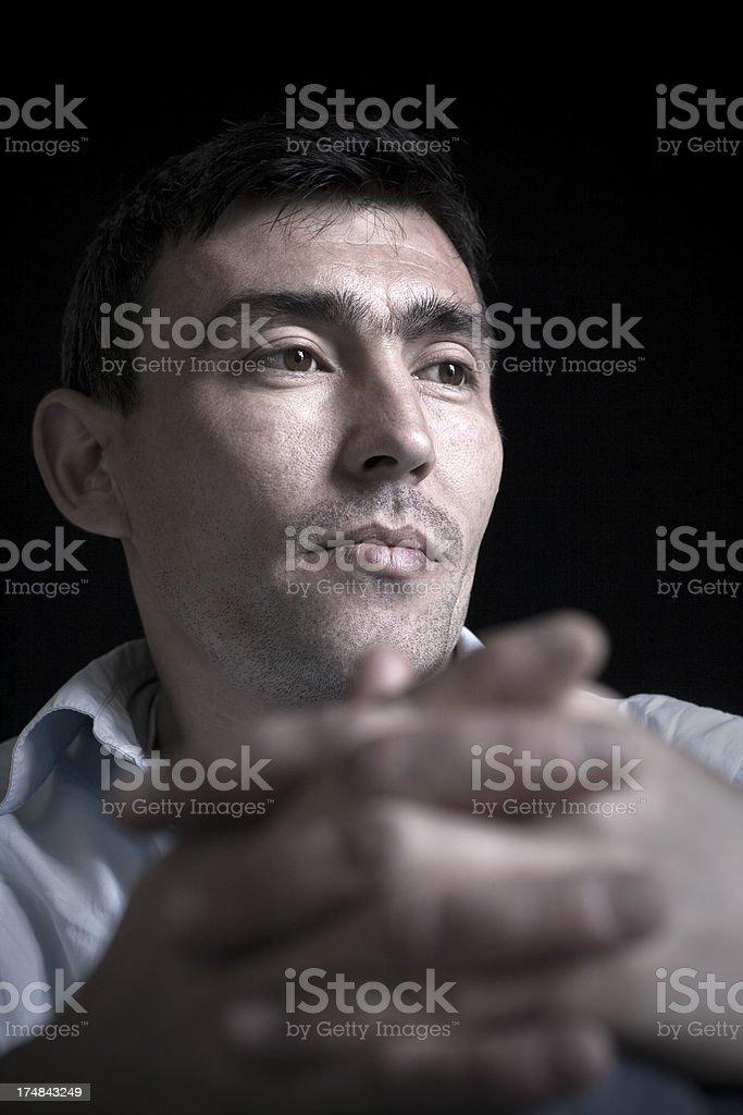 Portrait of a Kazakistan man royalty-free stock photo