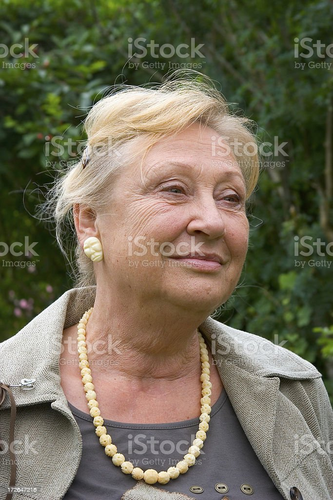 Portrait of a lady royalty-free stock photo