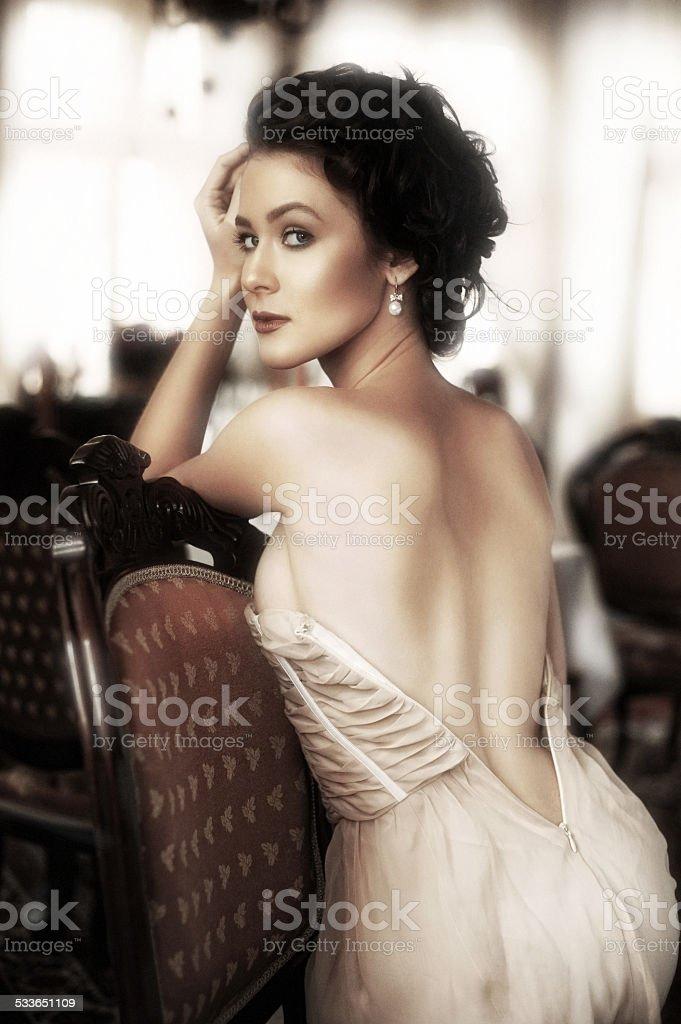 portrait of a lady stock photo