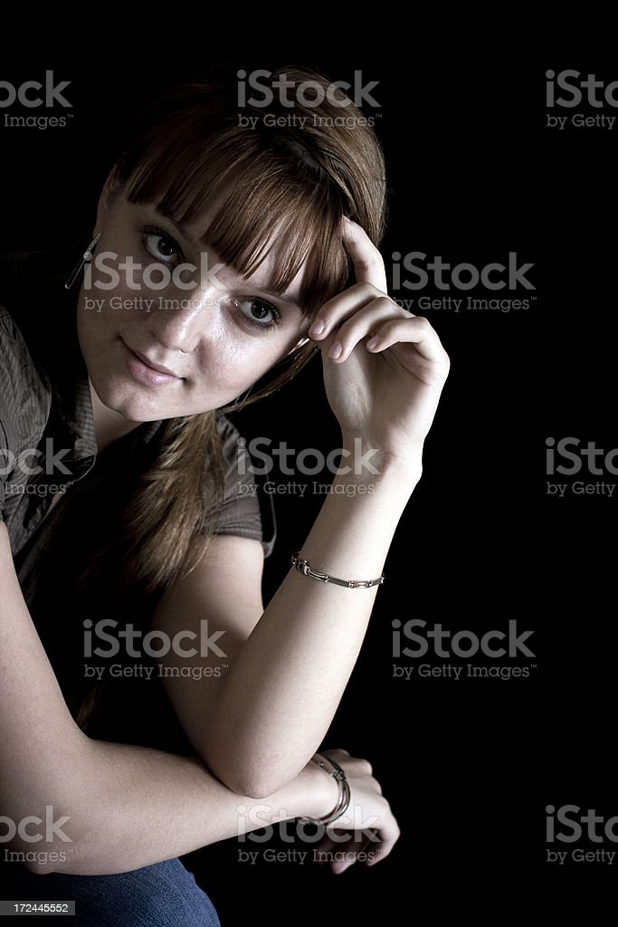 Portrait of a Latvia woman royalty-free stock photo