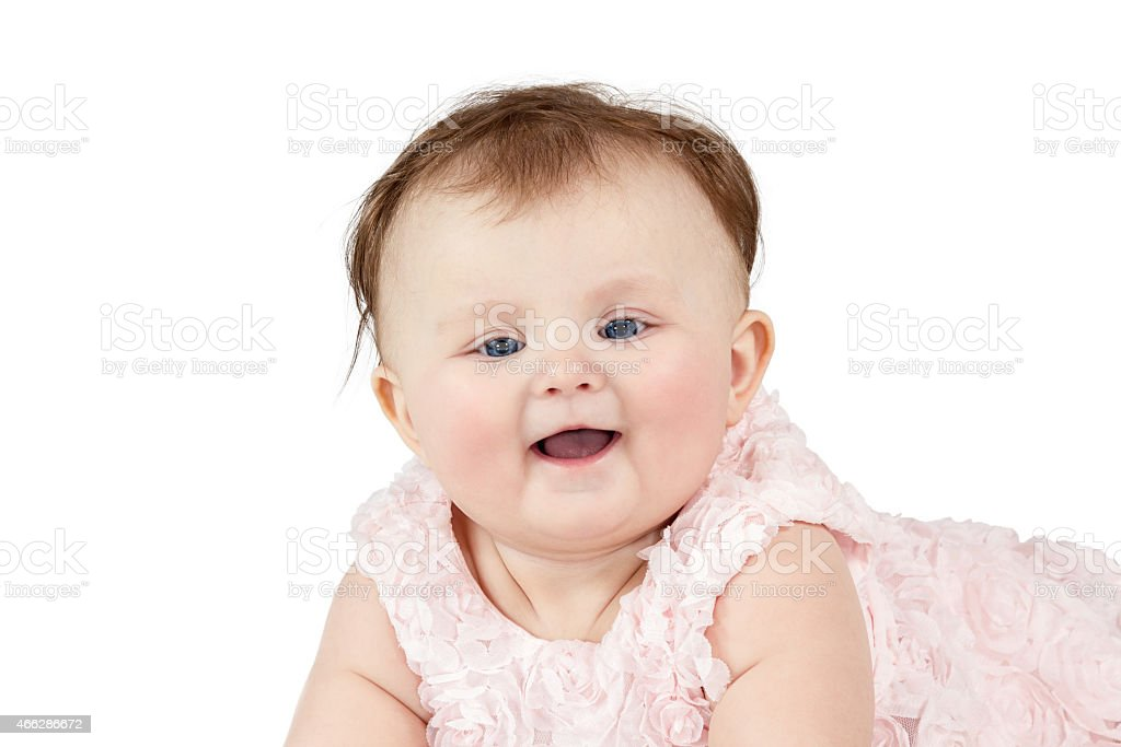 Portrait of a little baby stock photo