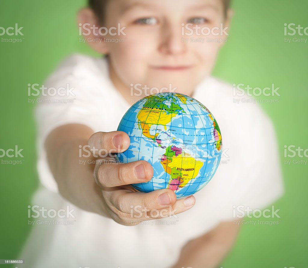 Portrait of a little boy royalty-free stock photo