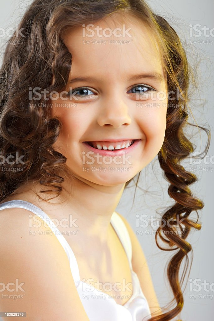 Portrait of a little smiling girl royalty-free stock photo