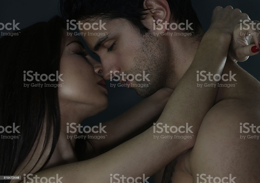 portrait of a loving couple stock photo