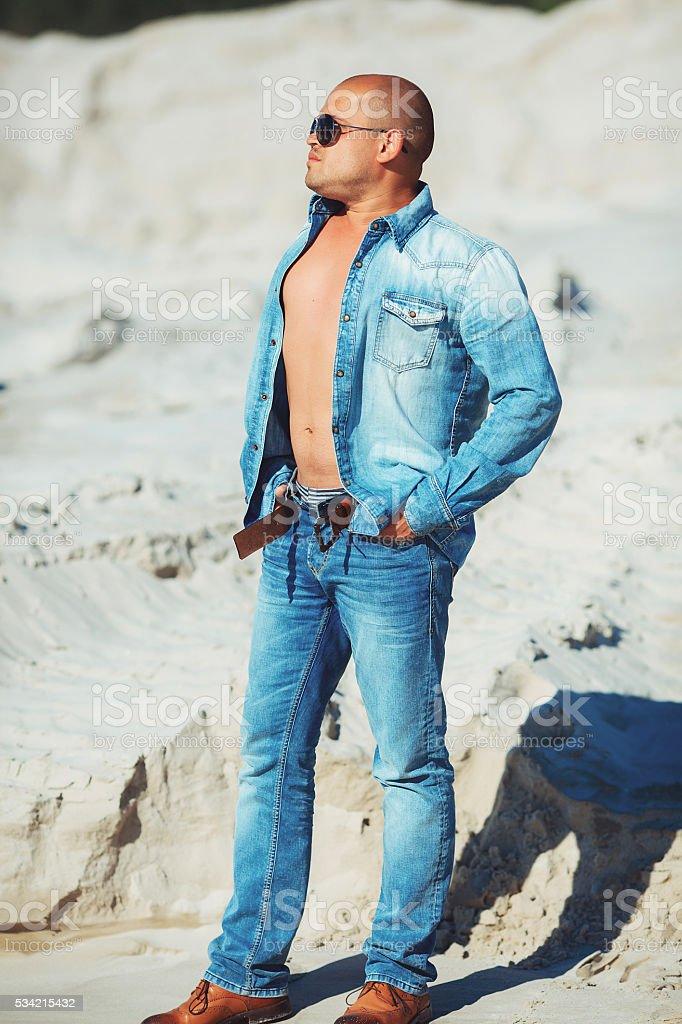 Portrait of a macho man royalty-free stock photo
