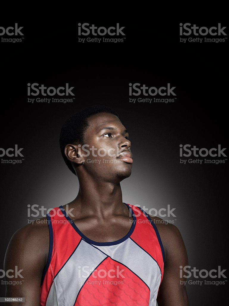 Portrait of a male athlete royalty-free stock photo