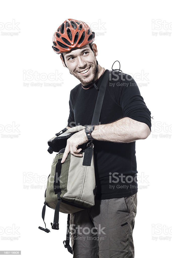 Portrait of a male commuter stock photo